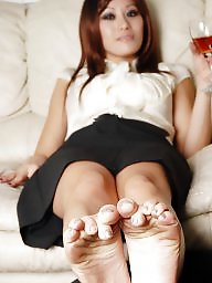 Mature feet, Asian mature, Asian milf, Mature asian, Dick, Cummed