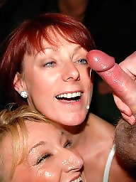 Facial, Group, Mature facial, Mature blowjob, Mature sex, Mature facials