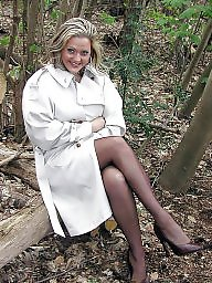 Upskirt, Lady, Wood, Show, Legs, Legs stockings