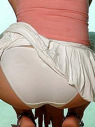 Upskirt, Panty, Mature upskirt, White panties, Mature panties, Mature panty