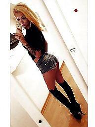 High heels, Teen stockings, High