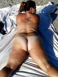 Clit, Beach, Bbw wife, Big clit, Bbw milf, Bbw beach