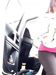Car, Cameltoe, Hidden, Cars, Milf ass, Hidden cam