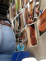 Jeans, Asses, Hidden cam, Latin ass