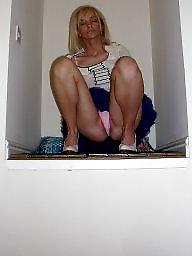 Mature, Skirt, Up skirt, Mature blonde, Ups, Blonde mature