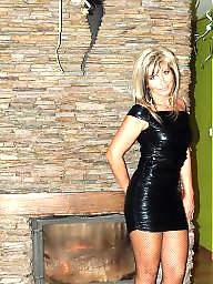 Leather, Upskirt, Milf upskirt, Milf in leather