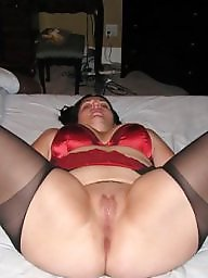 Spreading, Spread, Bbw stockings, Bbw spread