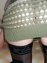 Upskirt mature, Stocking mature