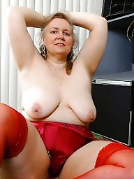 Chubby, Chubby mature, Mature chubby, Red, Chubby stockings, Red mature