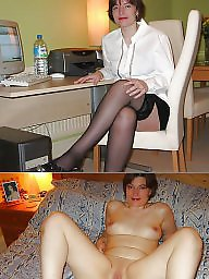 Before and after, Exposed, Wives, Before, Mature slut, Slut mature
