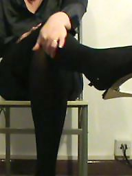 Satin, Stocking, Heels, Tights, Blouse, Tight