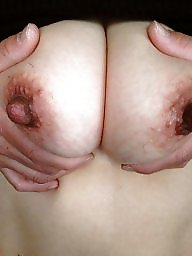 Saggy, Saggy tits, Saggy boobs, Hard, Wifes tits, My wife