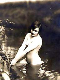 Lady, Vintage amateur, Water, Vintage amateurs