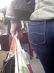 Jeans, Booty, Milf ass, Brunette milf