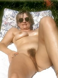 Naked, Mature naked, Sun, Naked mature, Ups, Backyard