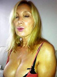 Cummed, Blonde milf, Hard