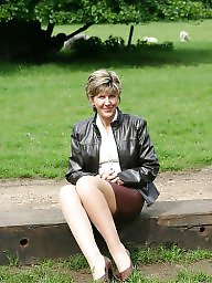 Stockings, Park, Uk mature, Parking, Mature stockings, Country