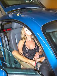 Car, Flashing, Blonde, Cars