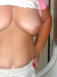 My wife, Mature, Mature wife, Mature big tits, Flashing tits, Mature flashing