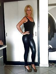 Boots, Leather, Amateur, Milf in leather