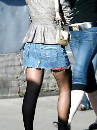 Nylon, Street, Nylon teen, Teen stockings, Upskirt teen, Teen upskirt