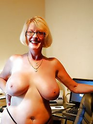 Glasses, Topless, Big, Amateur big tits