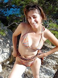 Bikini, Downblouse, Mature bikini, Dress, Mature downblouse, Underwear