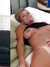 Before and after, Wives, Mature slut, Expose