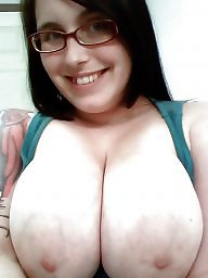 Glasses, Topless, Amateur big tits, Glass