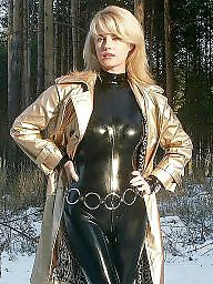 Latex, Pvc, Boots, Leather, Mature leather, Mature pvc