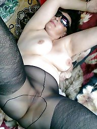 Pantyhose, Mature pantyhose, Pantyhose mature, Shower, Mature pussy, Hot mature