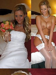 Bride, Dress, Before and after, Wedding, Before