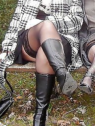 Upskirt, Lingerie, Mature lingerie, Mature upskirt