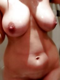 Wife, Bathroom, Mature wife, Mature shower