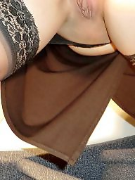 High heels, Heels, Upskirt stockings, Milf upskirt