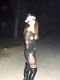 Asian, Boots, Dress, Flash, See through, Asian flash