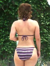 Bikini, Milf big ass, Candid, Big, Big ass milf, Candid ass