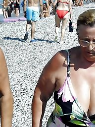 Granny, Big granny, Beach, Granny boobs, Granny beach, Amateur granny