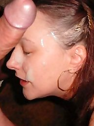 Face, Facial, Cummed, Amateur facials, Cum on face