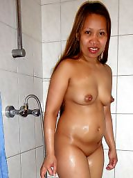Asian pussy, Asian amateur, Shower, Amateur old