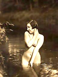 Lady, Water, Vintage amateur, Vintage amateurs
