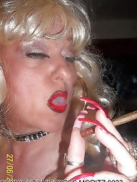 Smoking, Femdom, Smoke, Blonde milf, Nails
