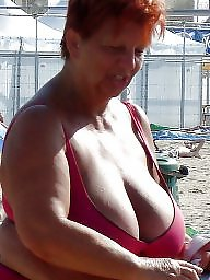 Granny beach, Beach, Granny boobs, Grannies, Granny, Big granny
