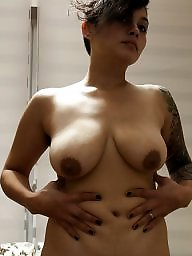 Saggy, Saggy tits, Big tits, Saggy boobs, Wifes tits, Big nipples