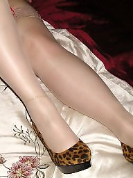 Heels, Natural, Stockings heels, Suspenders, Natures