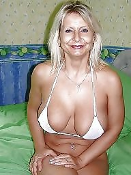 Lady, Blonde mature, Mature tits