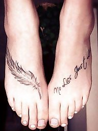 Feet, Tattoo, Tattooed