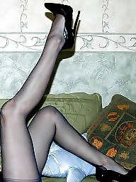 Vintage, Lady, Vintage stockings, Older, Upskirt stockings, Lady b