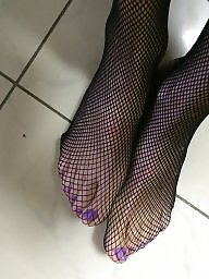 Fishnet, Feet, Milf feet