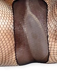 Pantyhose, Fishnet, Cock, Amateur milf, Sucking, Suck